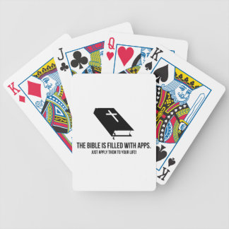 The Bible is Filled with Apps Bicycle Card Deck