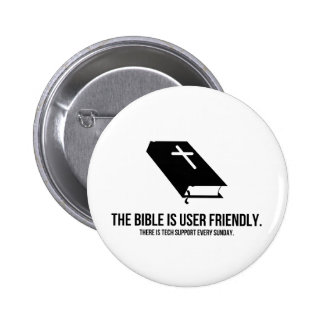 The Bible is User Friendly Pinback Buttons