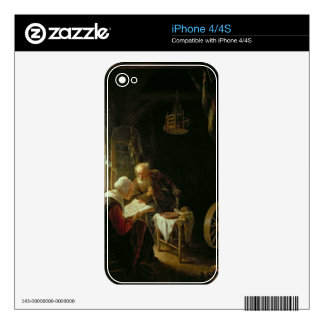 The Bible Lesson, or Anne and Tobias (oil on panel iPhone 4S Decal