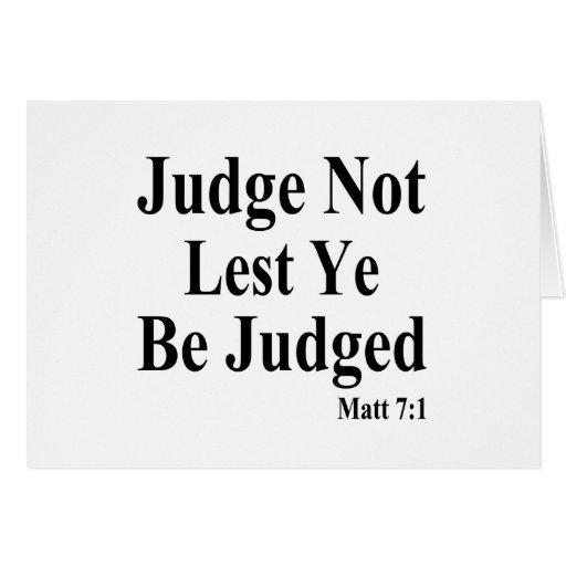 The Bible & Not Judging Others Card