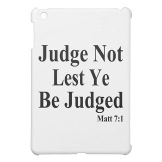The Bible & Not Judging Others iPad Mini Cover