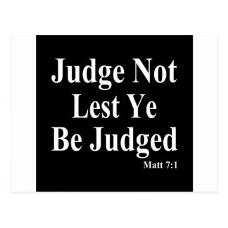 The Bible & Not Judging Others Postcard
