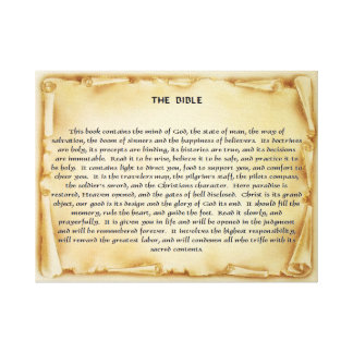 The Bible Scroll Canvas