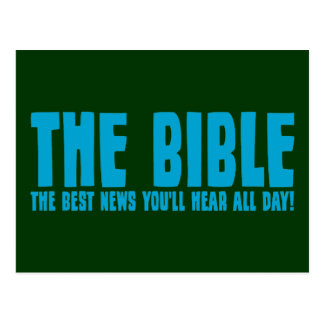 The Bible: the best news you'll hear all day Postcard