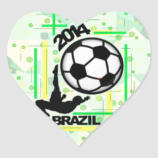 The Bicycle Kick. Heart Sticker