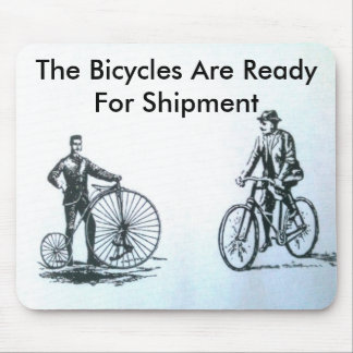 The bicycles are ready for shipment mouse pad