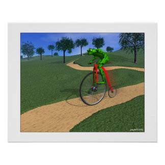 The Bicyclist w/blur Posters