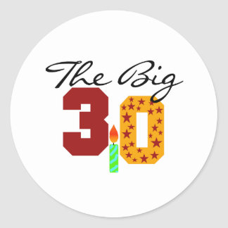 The Big 3-0 Stickers