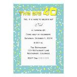 """THE BIG 40"" 40th Birthday Invitation Custom Invites"