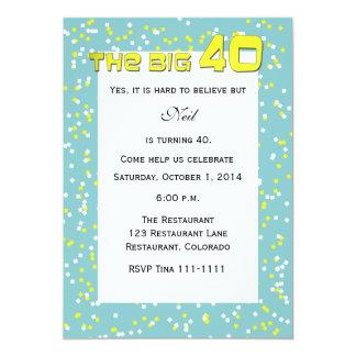 """THE BIG 40"" 40th Birthday Invitation"
