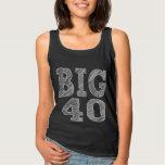 The BIG 40 Fortieth Birthday Basic Tank Top