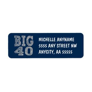The BIG 40 Fortieth Birthday Label