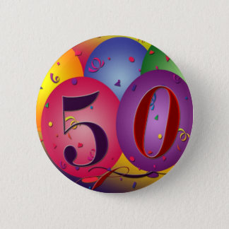 The big 50 birthday button