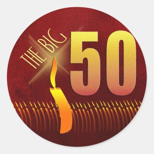 tHE BIG 50 birthday stickers