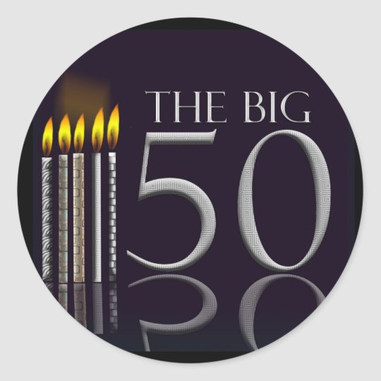 The Big 50 Black Birthday stickers