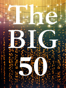 The Big 50 For 50th Birthday Card