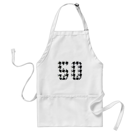The Big 50 Houndstooth Print Adult Apron