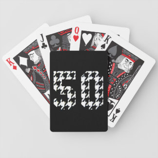 The Big 50 Houndstooth Print Bicycle Playing Cards