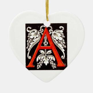 "The Big ""A"" - Floral Illumination Ceramic Ornament"