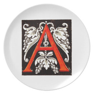 "The Big ""A"" - Floral Illumination Plates"