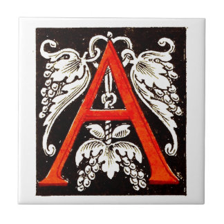 "The Big ""A"" - Floral Illumination Tile"