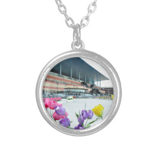 The Big A Silver Plated Necklace