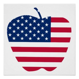 The Big Apple America flag NYC Poster