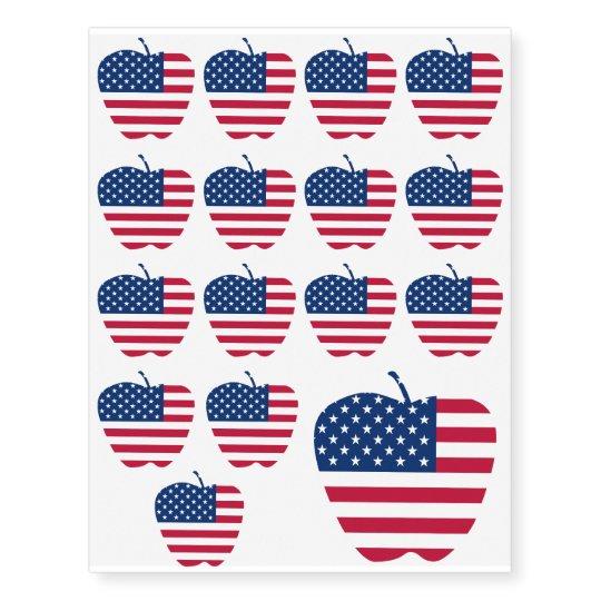 The Big Apple America flag NYC Temporary Tattoos | Zazzle.com