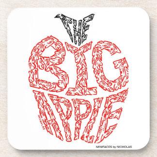 THE BIG APPLE - bu MINIFACES Beverage Coaster