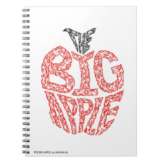 THE BIG APPLE - NOTEBOOK - by MINIFACES