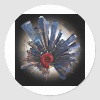 the big apple world.jpg classic round sticker