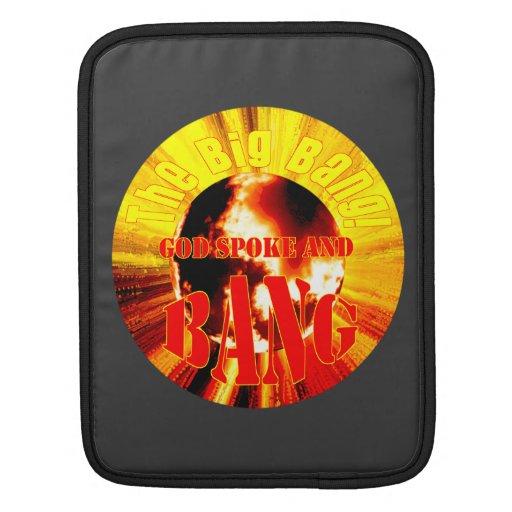 The Big Bang! God Spoke and BANG iPad Sleeves