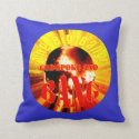 The Big Bang! God Spoke and BANG Throw Pillow