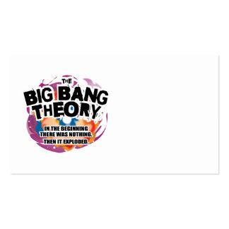 The Big Bang Theory Business Card Templates