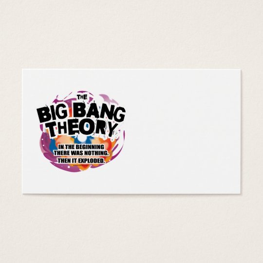The Big Bang Theory Business Card