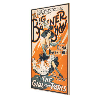 """The Big Banner Show """"The girl from Paris"""" Canvas Print"""