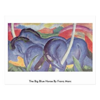 The Big Blue Horse By Franz Marc Postcard