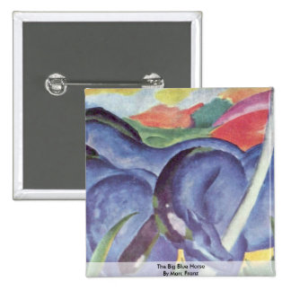 The Big Blue Horse By Marc Franz Pinback Button
