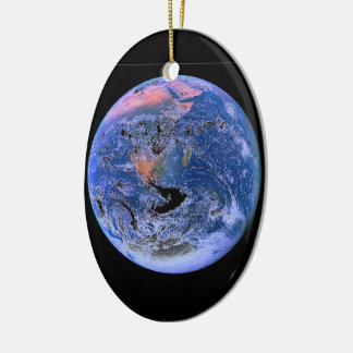 """The Big Blue Marble"" Ceramic Ornament"