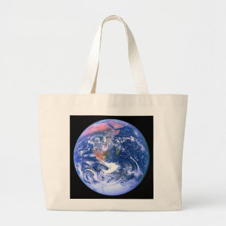 """The Big Blue Marble"" Large Tote Bag"