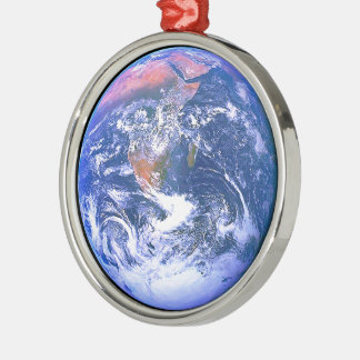 """The Big Blue Marble"" Metal Ornament"
