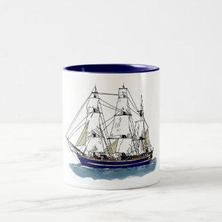 The Big Blue – Tall Ship Two-Tone Coffee Mug