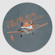The Big Boss From Propwash Classic Round Sticker