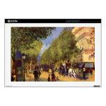 The big boulevards by Pierre Renoir Laptop Skin