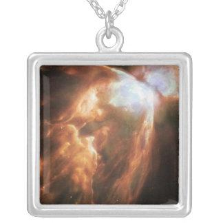 The Big Bright Bug Nebula Square Pendant Necklace