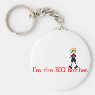 The BIG Brother Basic Round Button Keychain