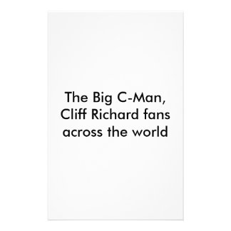 The Big C-Man, Cliff Richard fans across the world Stationery