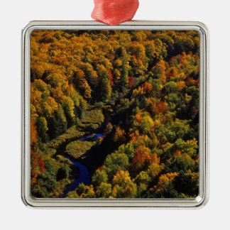 The Big Carp River in autumn at Porcupine Metal Ornament