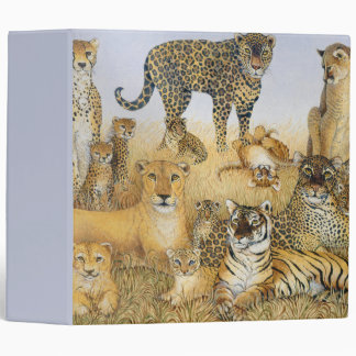 The Big Cats 3 Ring Binders