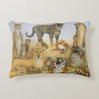 The Big Cats Accent Pillow